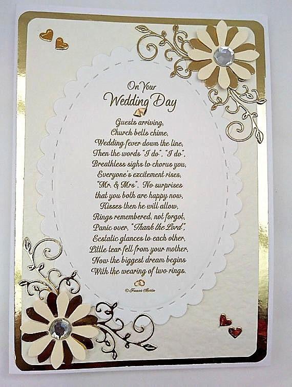 Wedding Card Gold Cream Scottishtartan On Your Day Verse Mr Mrs And Mrrs Congratulations Keepsake Poem