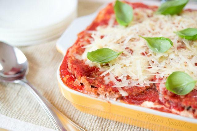 Eggplant Parmesan Lasagna...the Skinny Version!