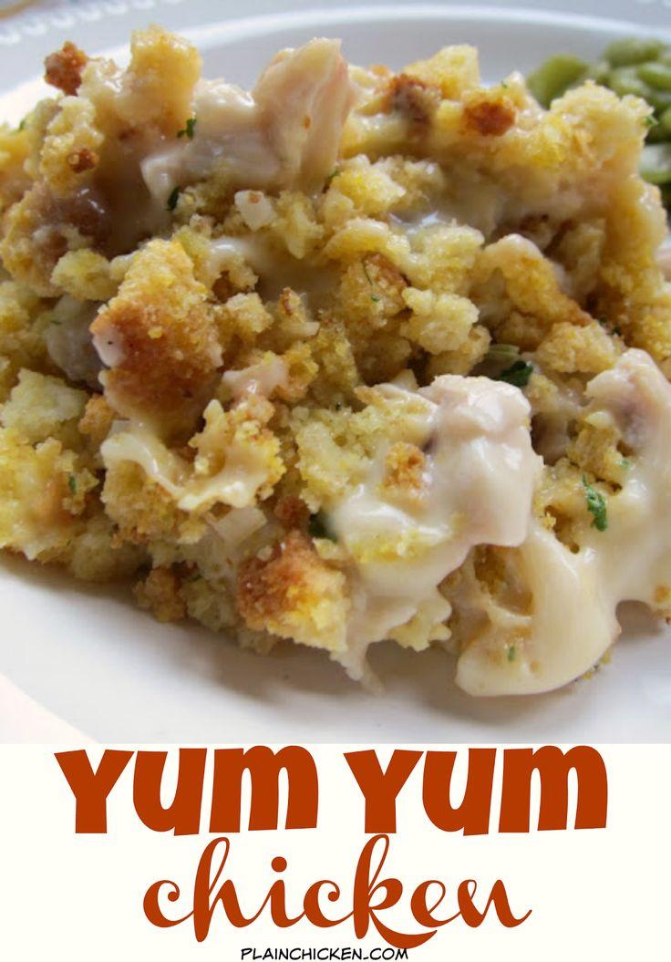 Yum Yum Chicken - Creamy Chicken Casserole Topped With -6135