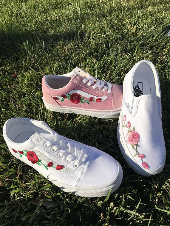 embroidered vans shoes