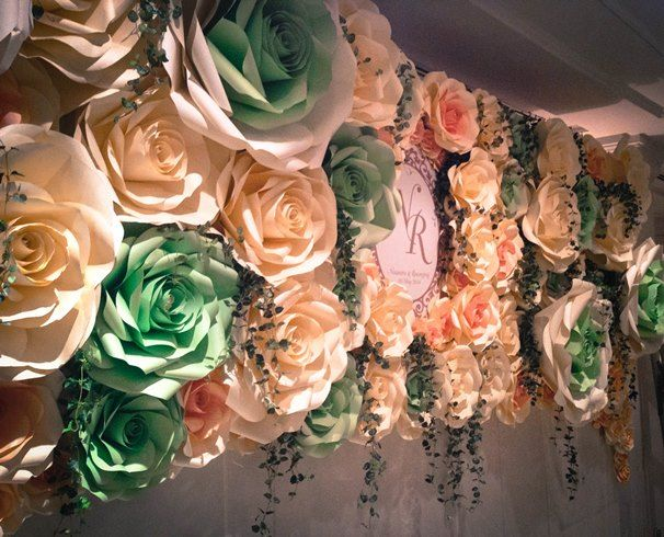 de papel gigante flor - Google Search | flores papel ...