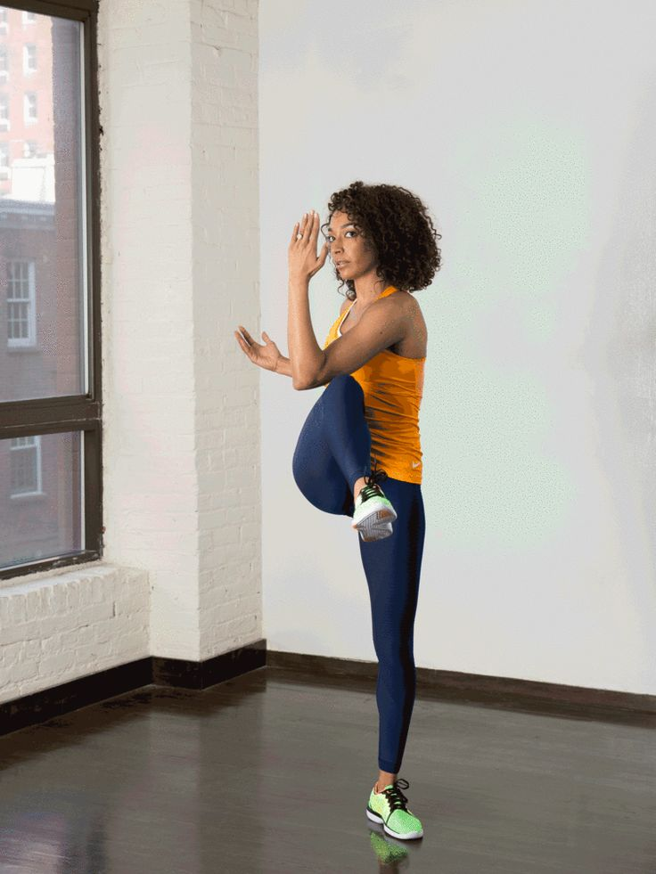 1. March With Twist #standing #abs #workout http://greatist.com/move/abs-workout-best-abs-exercises-you-can-do-standing-up