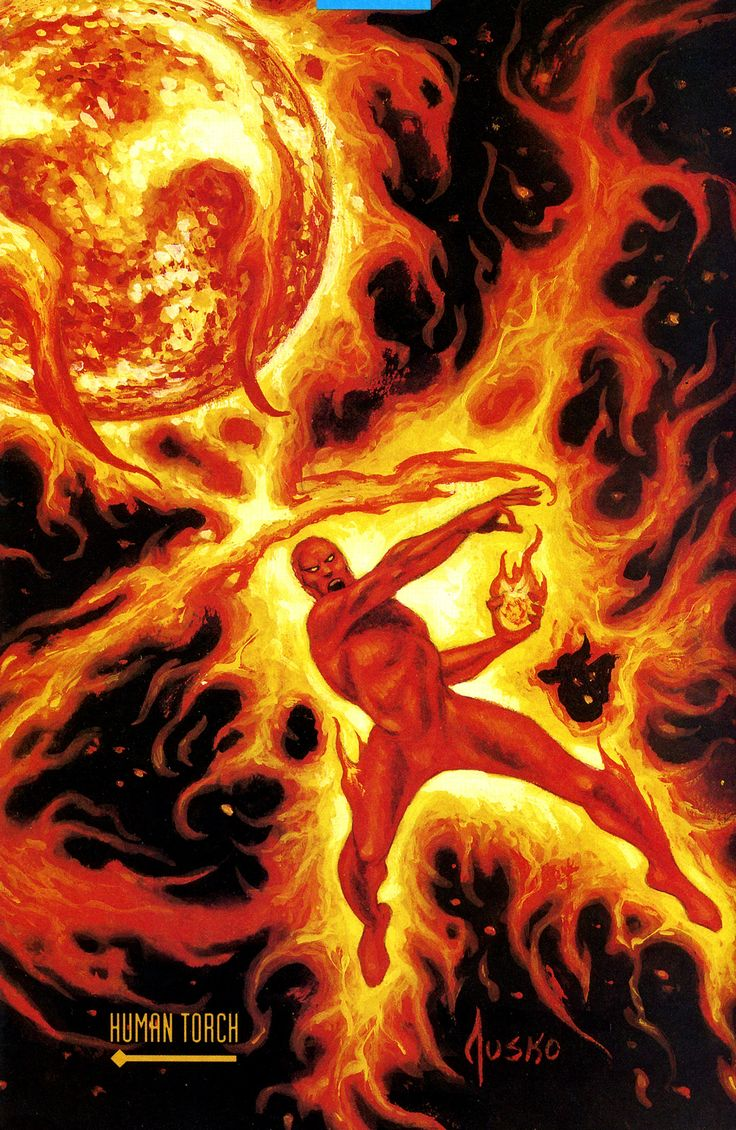 Human Torch II:  Avengers, Fantastic Force, & Fantastic Four     Human Torch by Joe Jusko