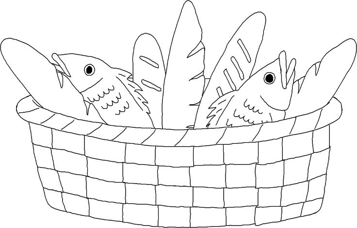fish and bread coloring pages - photo#6