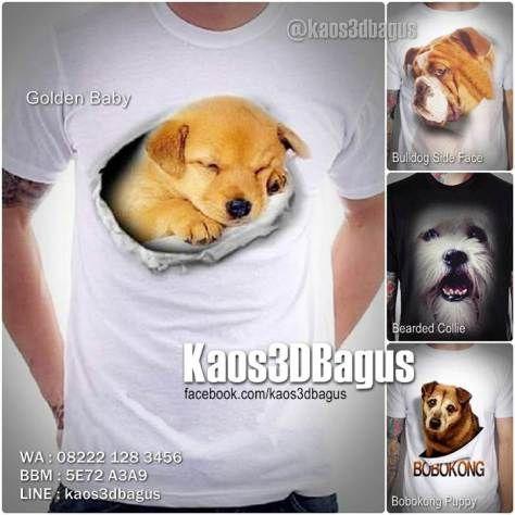 Kaos Komunitas Pecinta Anjing Ras, Kaos 3D Anjing Golden Lucu, Kaos Anak Anjing, Kaos Anjing Bearded Collie, Kaos Anjing Bulldog, Kaos3D, Kaos 3D Bagus, Kaos 3D Umakuka, Kaos 3D Binatang, Kaos Animal Lover, Kaos Anak Anjing Lucu, http://instagram.com/kaos3dbagus, WA : 08222 128 3456, BBM : 5E72 A3A9, LINE : kaos3dbagus