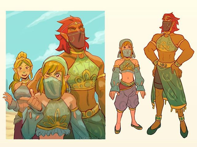 Ganon Meets The Gerudo Women Zelda Breathofthewild Botw