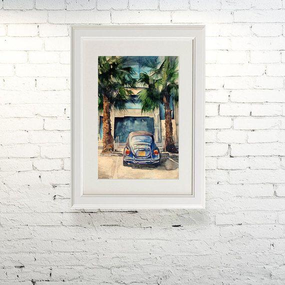 Printable wall art  Watercolor poster Under by TatyanaKomarovaArt
