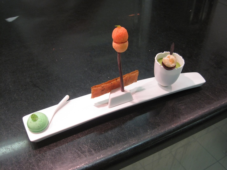 Éric Fréchon sends an amuse-bouche over; they're worried I'll go into sugar shock. (Le Bristol, there for research for THE CHOCOLATE HEART, THE CHOCOLATE ROSE, THE CHOCOLATE TEMPTATION)