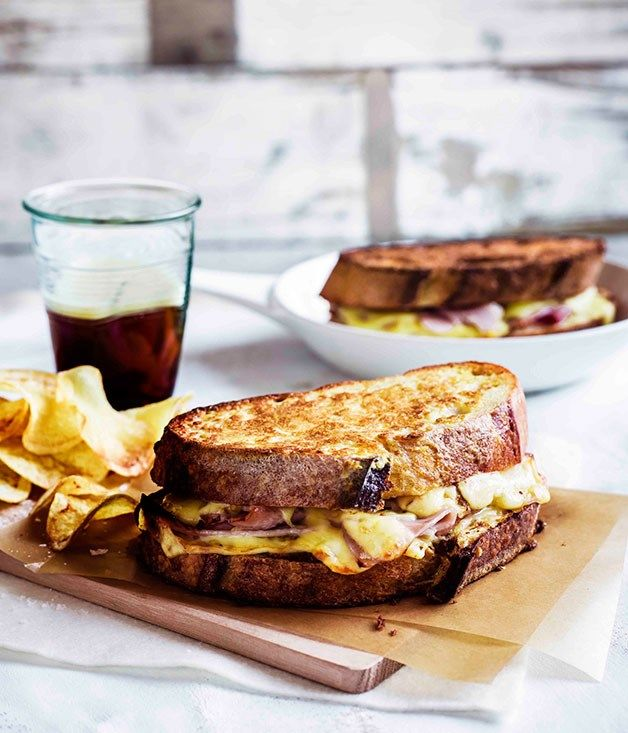 Monte Cristo sandwiches with potato crisps :: Gourmet Traveller