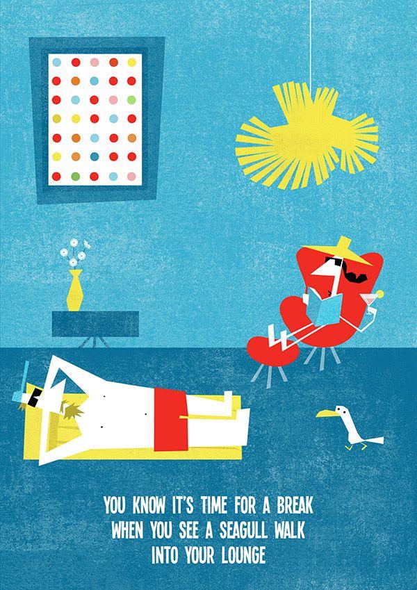 Καλό Μήνα με ένα καλοκαιρινό poster που σχεδίασε η εικονογράφος Luisa Vera για τον οίκο φωτισμού LZF.