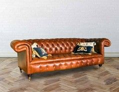 Show more information on Chesterfield 1857 Leather Sofa UK Manufactured