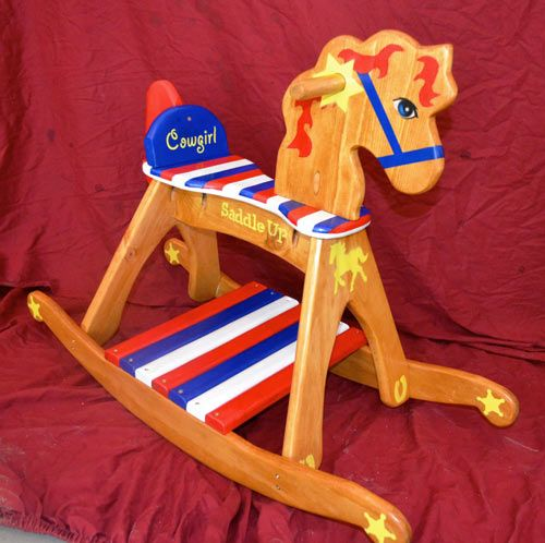 Pinto Rocking Horse by Paul Johnson. Made from free plans at woodworkingdownunder.com