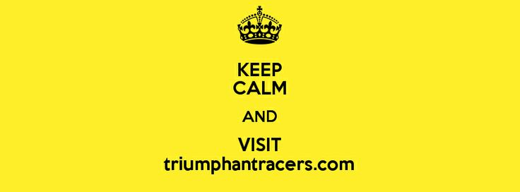 Do Visit www.triumphantracers.com Follow us on Facebook, Twitter, Instagram and Pinterest.