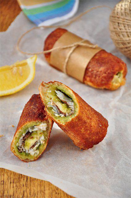 Хрустящие роллы из хлеба для тостов и рыбы - очень вкусно и просто в приготовлении!