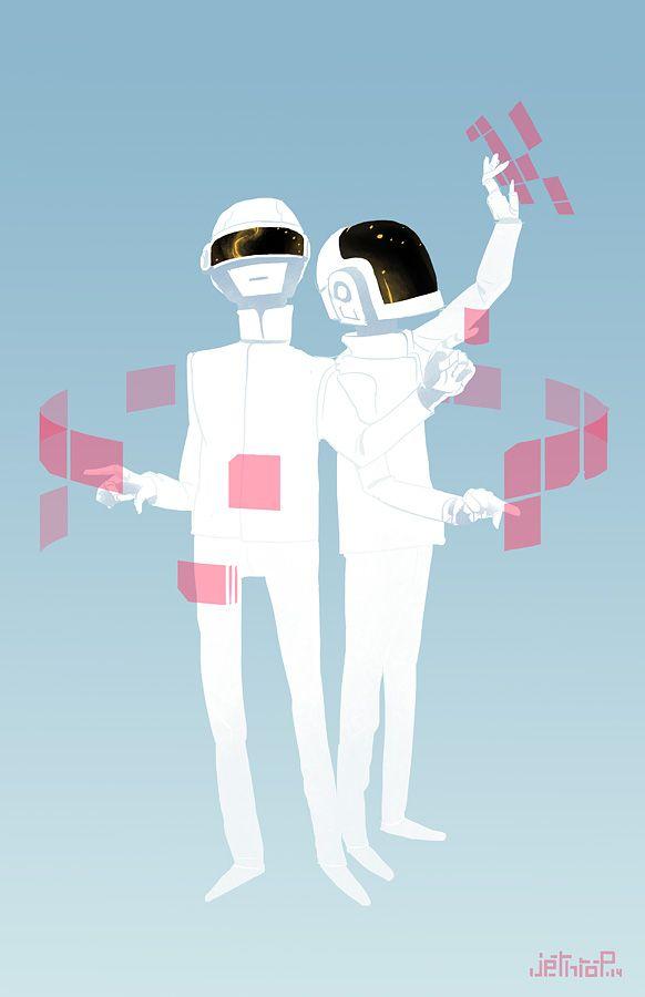 Daft Punk by ArchaicEphony.deviantart.com on @deviantART