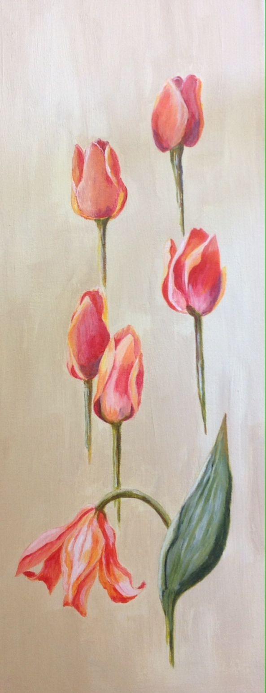 Tulip ballet , acrylic , by Pamela Robinson