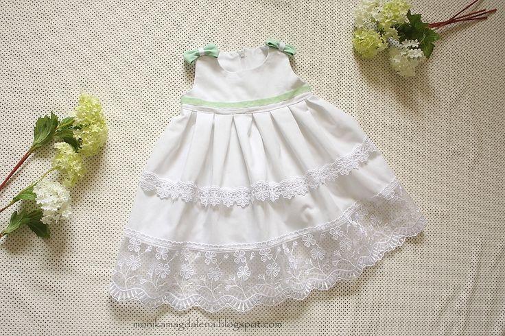 """Sukienka niemowlęca  do chrztu """"Malutka Józefina"""" w Monika Magdalena  na DaWanda.com"""