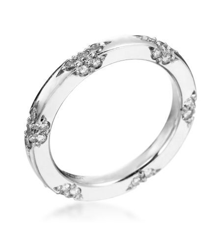Michael B - Lace Collection Platinum Wedding Band