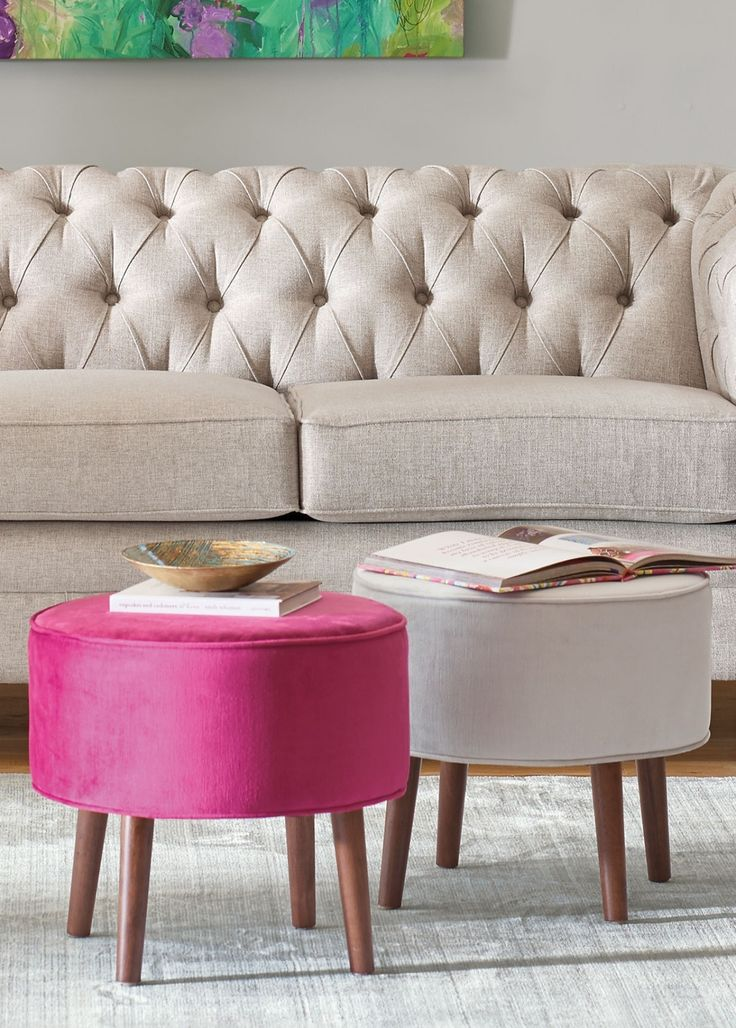 125 Best Images About Ottomans Tuffets And Benches On