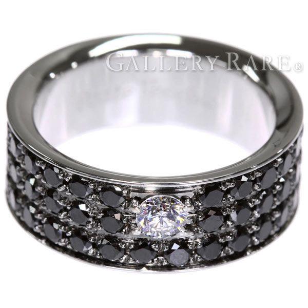 ポンテヴェキオ リング イオエテ ブラックダイヤモンド 2.70ct ダイヤモンド K18WGホワイトゴールド Ponte Vecchio ジュエリー 指輪 パヴェダイヤ