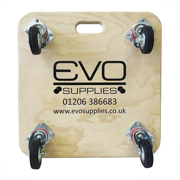 Perfect Personalised Wooden Furniture Skates With Black Elastic Castors, Available  In Various Models, Ideal For