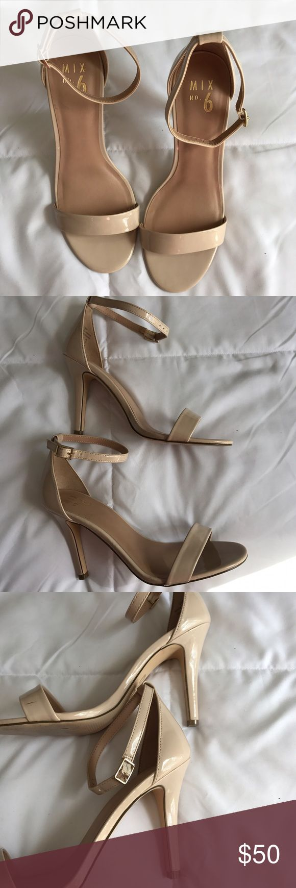 """Nude Patent Leather Heel worn once to an event, bought from Designer Shoe Warehouse ❤️ 4"""" heel Steve Madden Shoes Heels"""