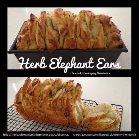 I'm loving this bread and have been busting to show you! We had this with pizzas last night as something a bit different to garlic bread.  The layers ju