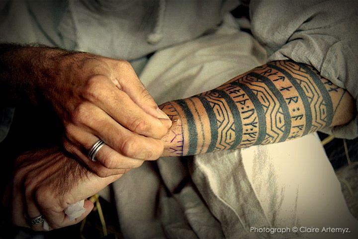 Art of skin-stitching. Photograph © Claire Artemyz.