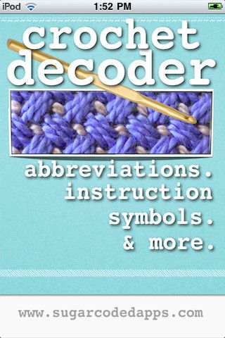 Crochet Patterns Reading : patterns! Iphone App, Crochet Basic, Crochet Symbols, Pattern Reading ...