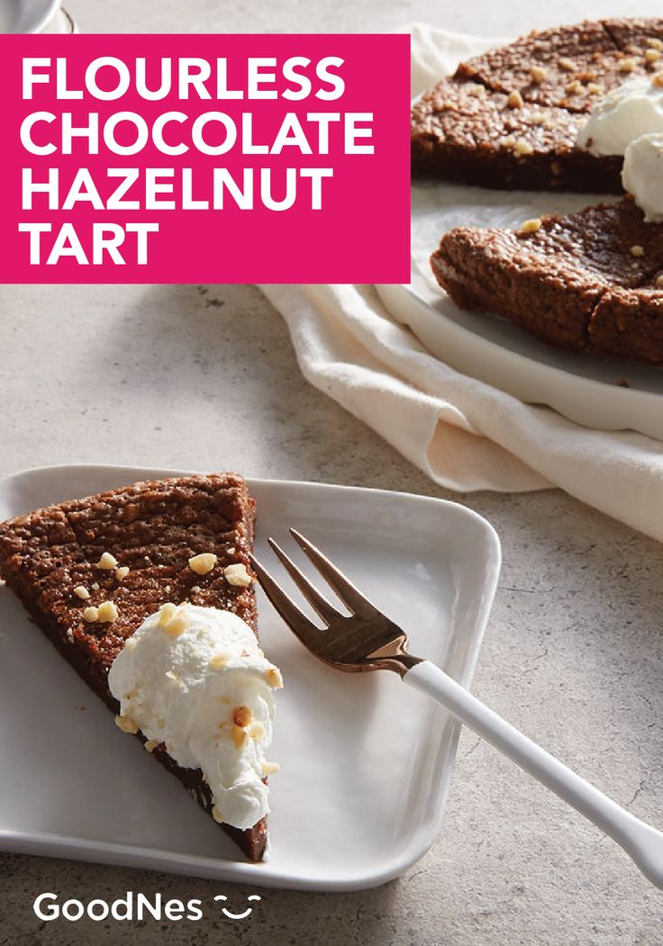 At your next family reunion, make this flavorful recipe for Flourless Chocolate Hazelnut Tart. This decadent dessert is made with Nestlé® Toll House® Dark Chocolate Morsels and topped with chopped up pieces of hazelnuts and hazelnut whipped cream.