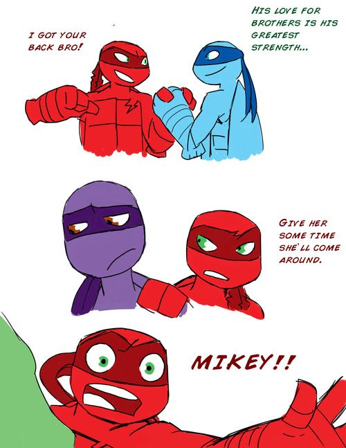 Raph's affection for his bros...