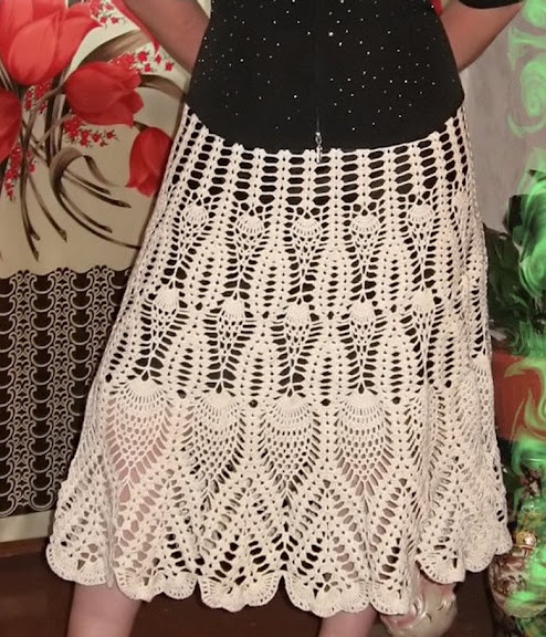 Beautiful Skirt free crochet graph pattern