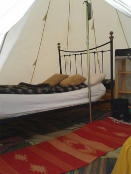 comfortable beds glamping