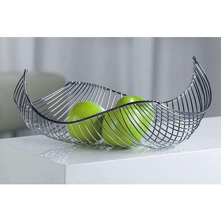 XTRADEFACTORY Corbeille à fruits/pain en métal chromé (Argent): Amazon.fr: Cuisine & Maison