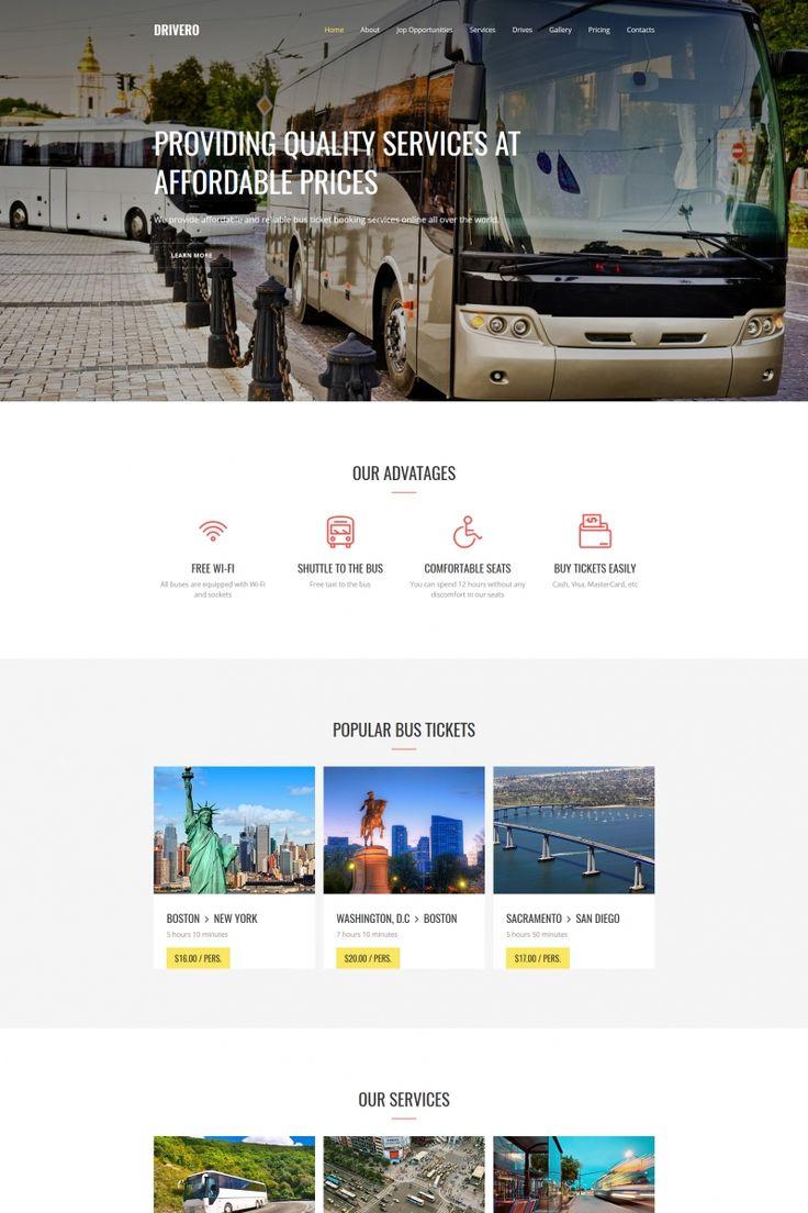 Moto CMS 3 Theme , Drivero - Bus Company Premium