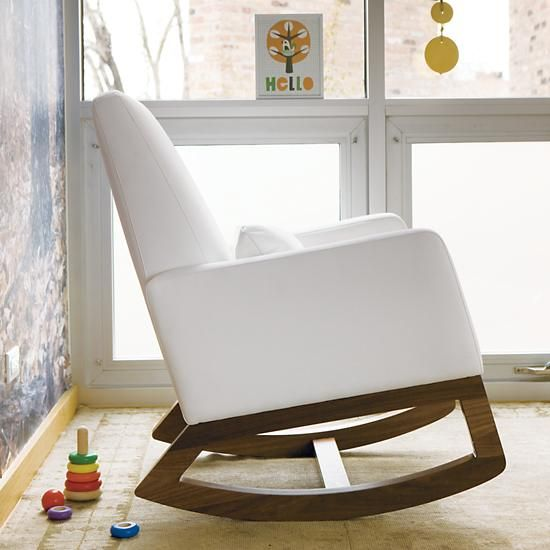 Perfect Nursery Rockers: White Leather Monte Design Joya Rocker In Rockers U0026 Gliders  | The Land