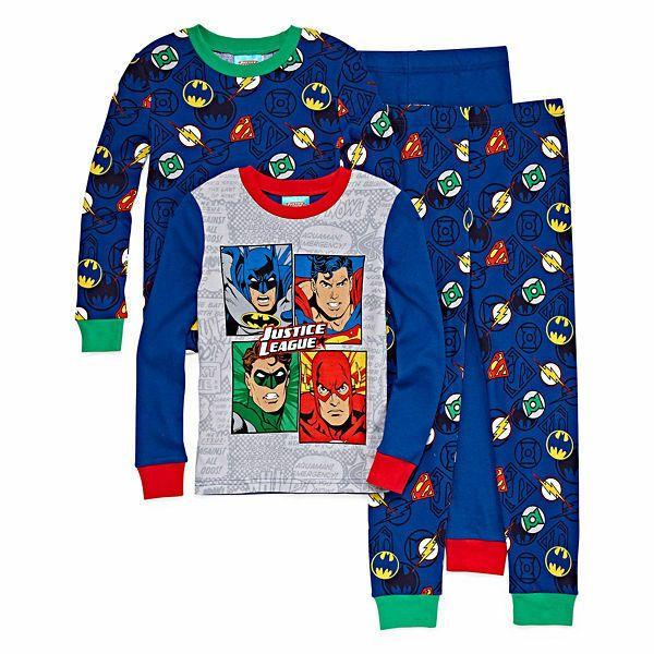 Size 2T NwT Justice League Toddler Boys/' Batman Pjs Pajamas Sleepwear Sets