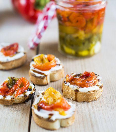 """""""Instantní"""" léto ve skleničce? Nasládlé pečené papriky v olivovém oleji, ochuceném česnekem!; Greta Blumajerová"""