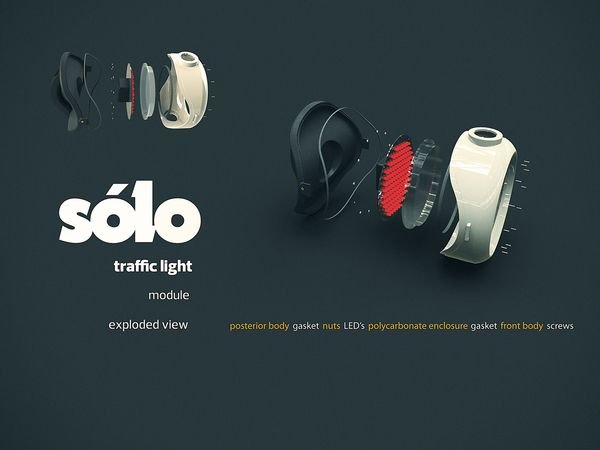 Sólo - traffic light by Matheus Pinto, via Behance