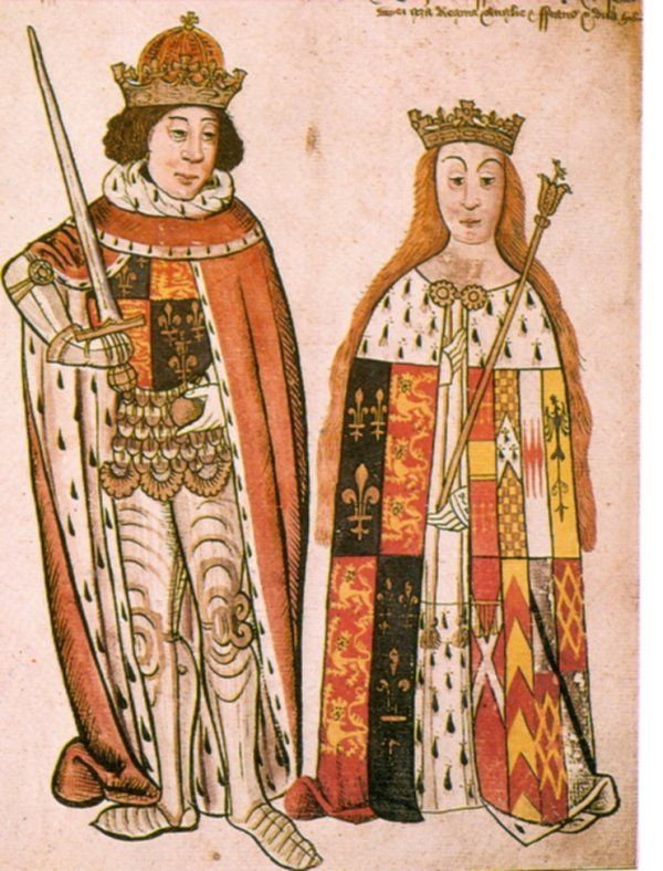 Richard lll and Queen Anne (Neville)  She born at Warwick Castle betrothed at 14 years old. Queen Anne was laid to rest Westminster.  She was the last Plantagenet queen.