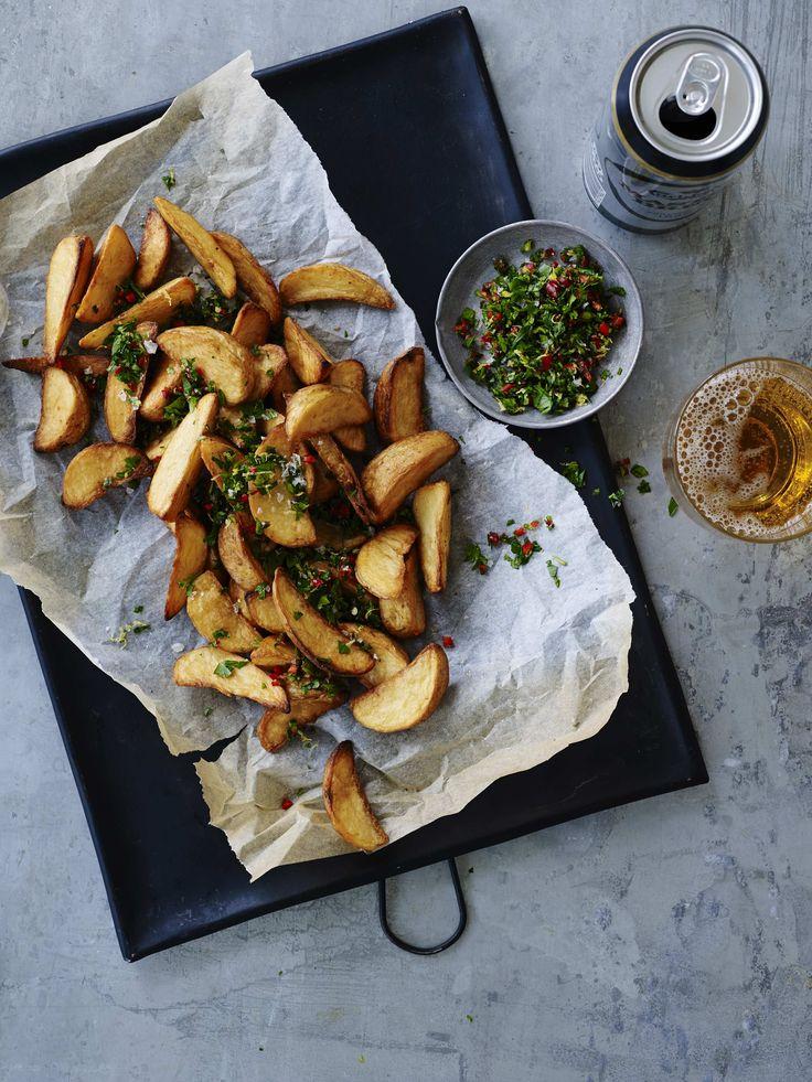 Kartoffelbåde med spicy gremolata