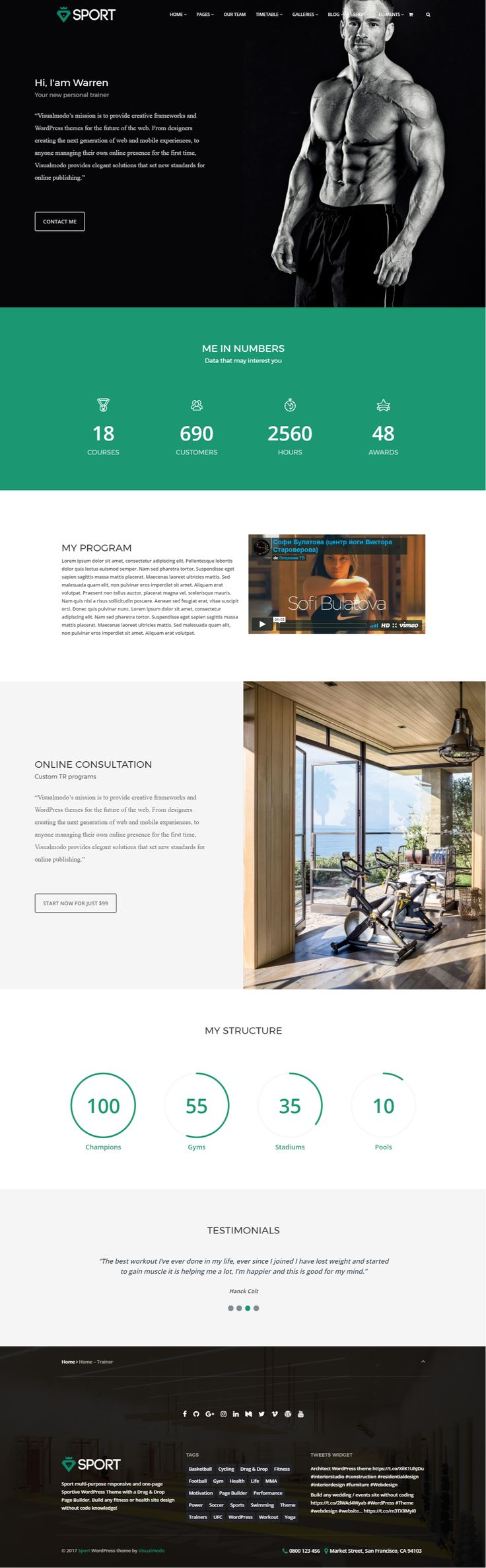 Sport Theme – A WordPress Theme specially developed for sportive site styles, if you want to build a gym. health. fitness, sport team or any other sports site style it's the right theme for you! http://www.mojomarketplace.com/item/sport-multi-purpose-sportive-wordpress-theme  ⚽️ #webdesign #HTML5 #CSS3 #template #plugins #theme #wordpress#onepage #gym #sport #health #team #blog #fitness #spa #crossfit