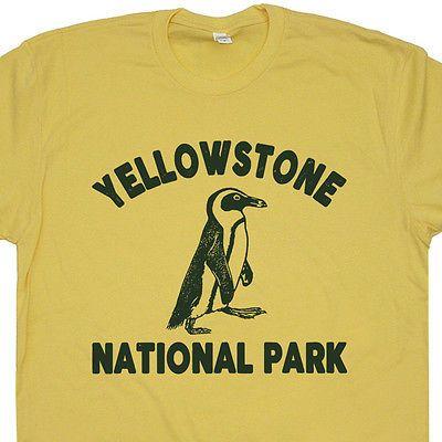 Yellowstone-Penguin-T-Shirt-Yellowstone-National-Park-Tee-Camping-Hiking-Vintage