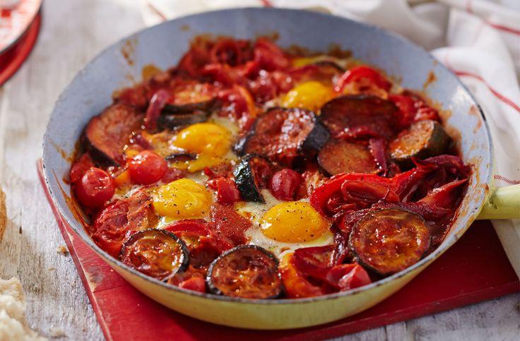One pan ratatouille eggs recipe