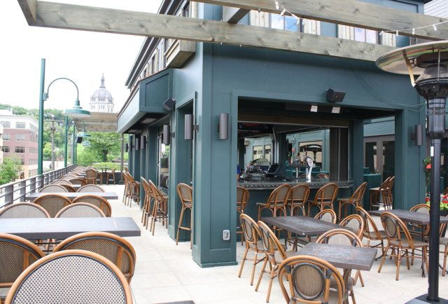 The rooftop bar at Louis Ristorante-Thrillist's Patio Power Rank: The 7 finest outdoor drinking spots in the Twin Cities