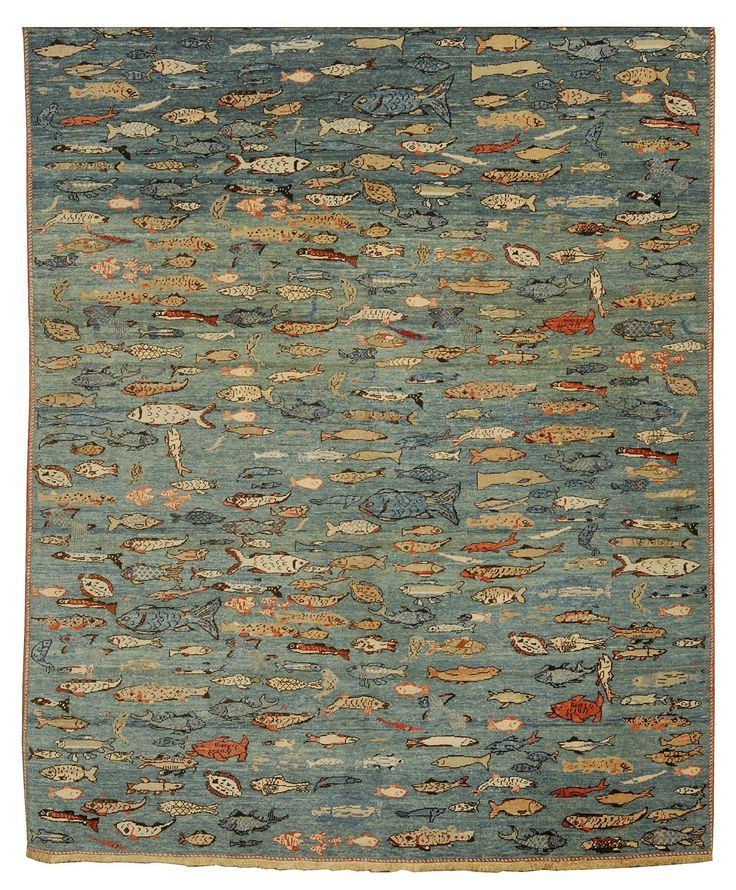 ORIENTAL RUG TURKISH An array of fish