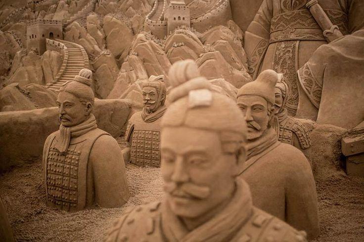 As incríveis esculturas de areia do Yokohama Sand Art Exhibition