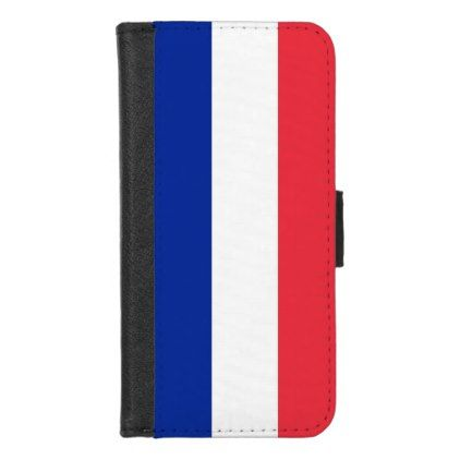 iPhone 7/8 Wallet Case with flag of France - stylish gifts unique cool diy customize