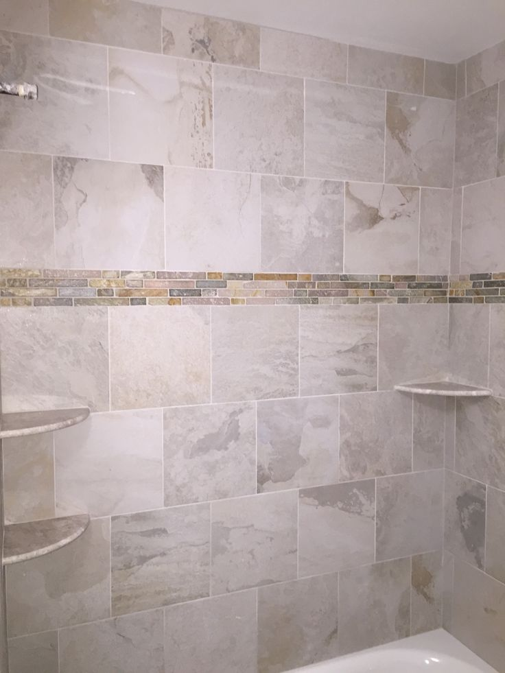 Ivetta White Tile Bathtub Surround Lowes Bathroom Laundry Room 2015 Remodel Pinterest
