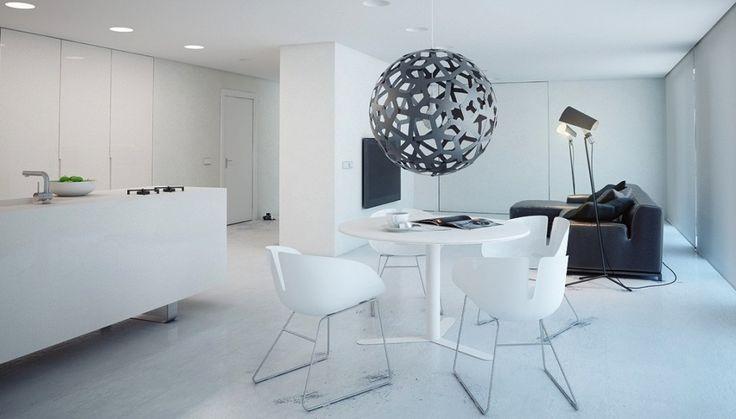 A Super Minimalist Modern Apartment In White